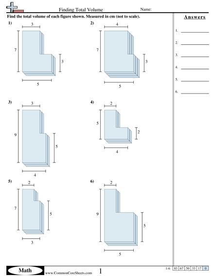 Irregular Volume Shapes Worksheets   99Worksheets