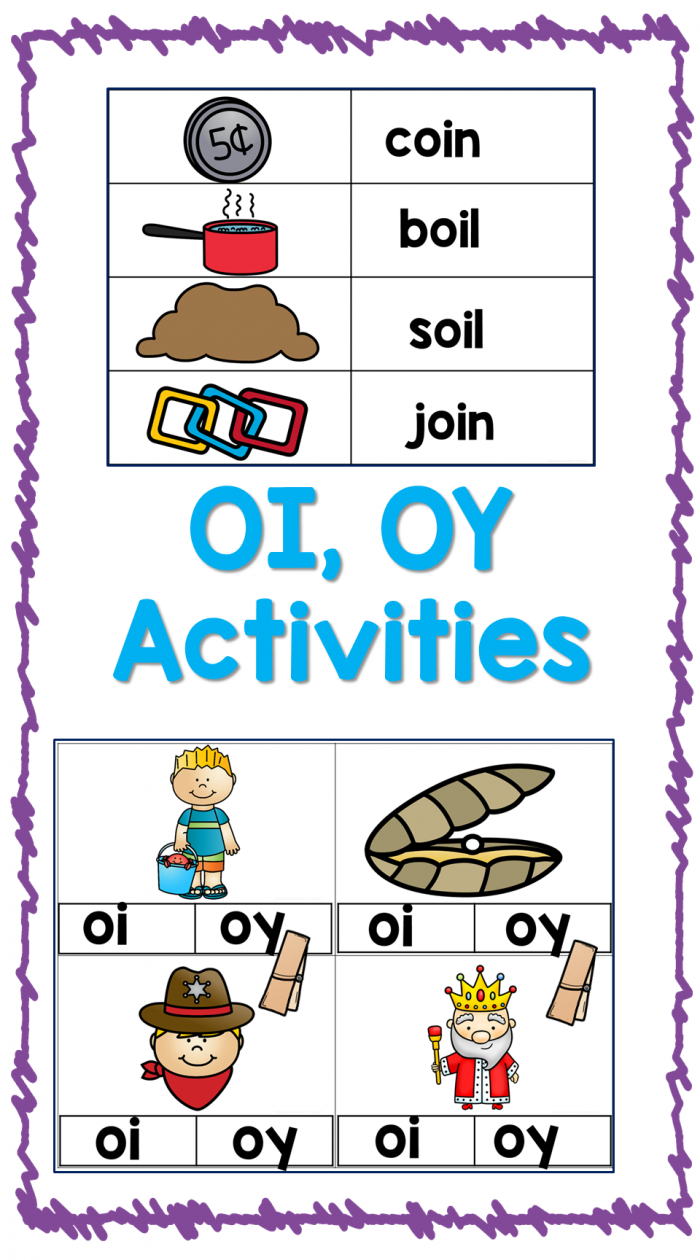 Vowel Diphthongs Oi Oy