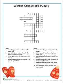 Winter Crossword: Easy