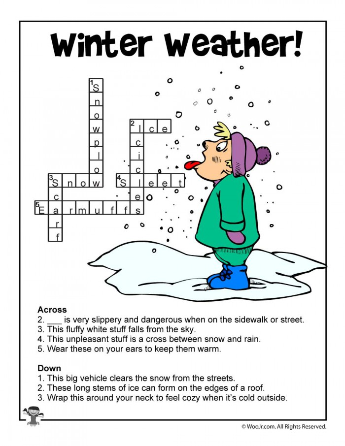 Winter Word Puzzles   Compound Words Vocabulary Worksheets