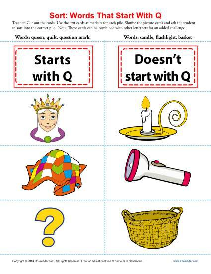 Words Starting With Letter Q