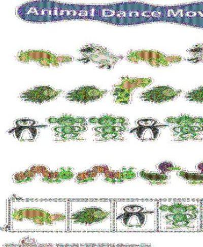 Worksheets Identifying Patterns Animal Dance Moves  Preschool