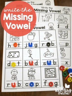 Make A Word: Write The Missing Letter