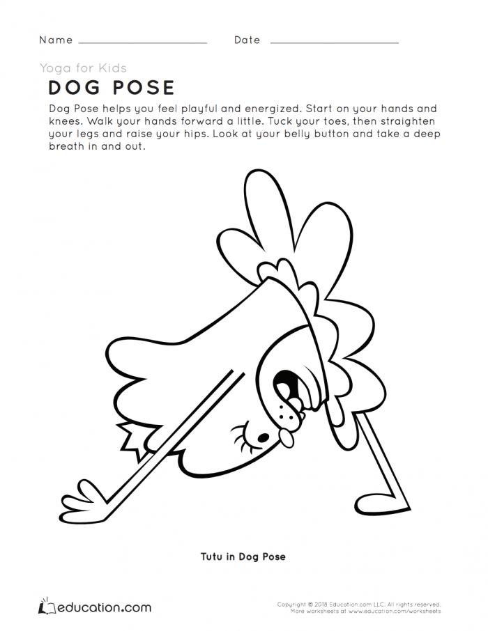 Yoga For Kids Dog Pose