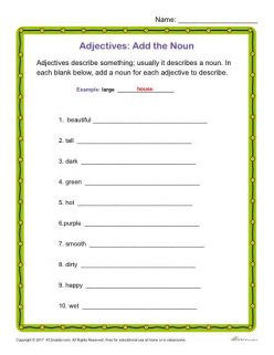 Adding Adjectives