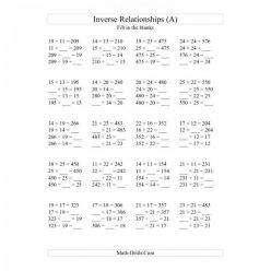 Inverse Operations: Multiplication
