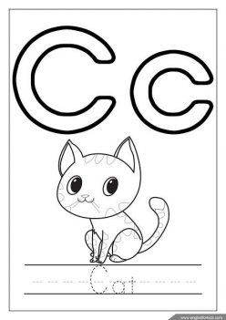 Letter C Coloring Page