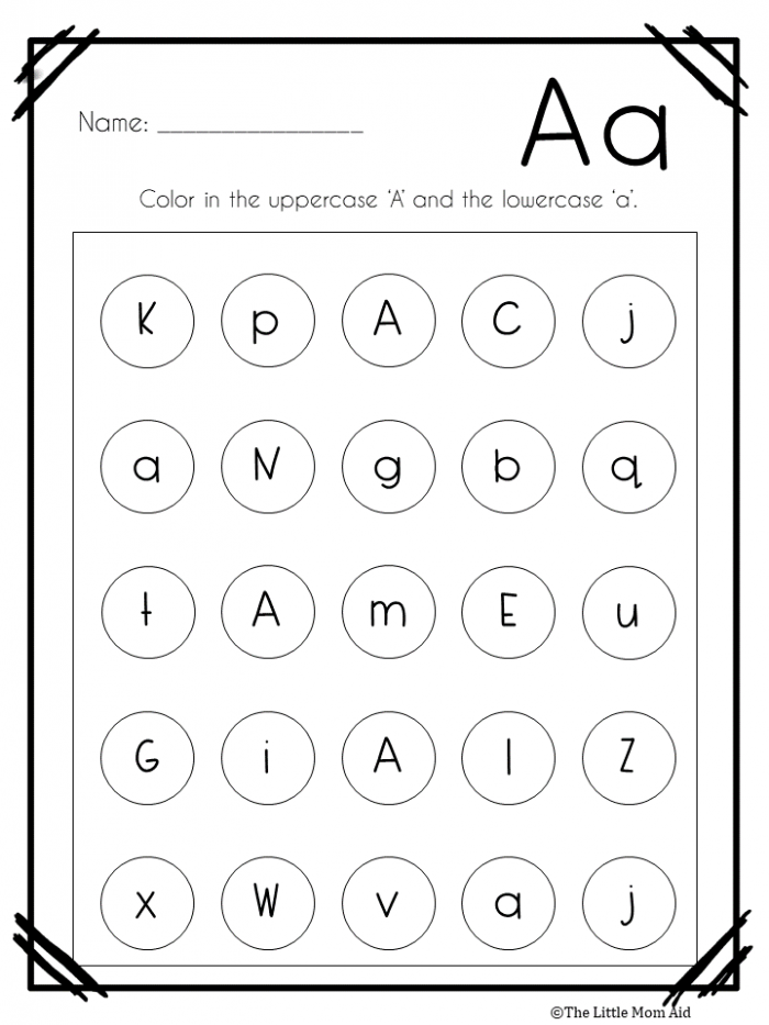 Alphabet Letter Find Worksheets Uppercase And Lowercase With