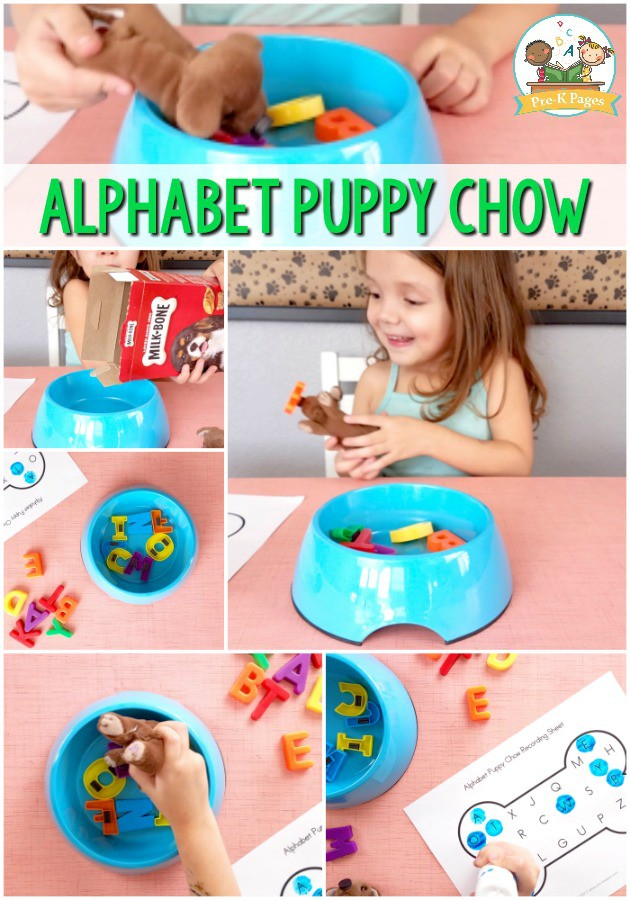 Alphabet Puppy Chow Game For Kids