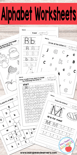 Alphabet Learning: Follow The A To Z Path