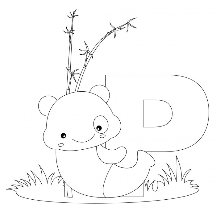 Animal Alphabet Letter P Is For Panda Heres A Simple