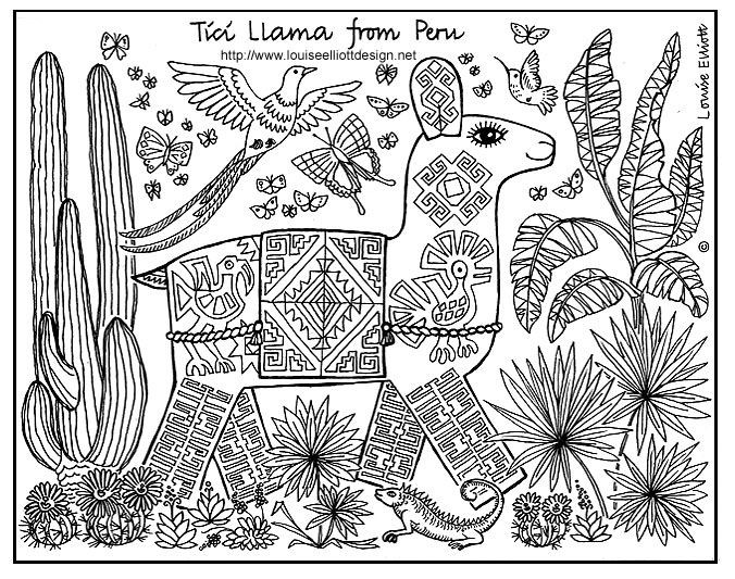 Animals For Other Countries Coloring Pages With Images