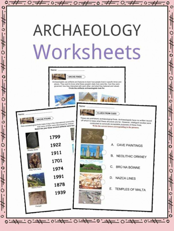 Archaeology Facts  Worksheets   Information For Kids