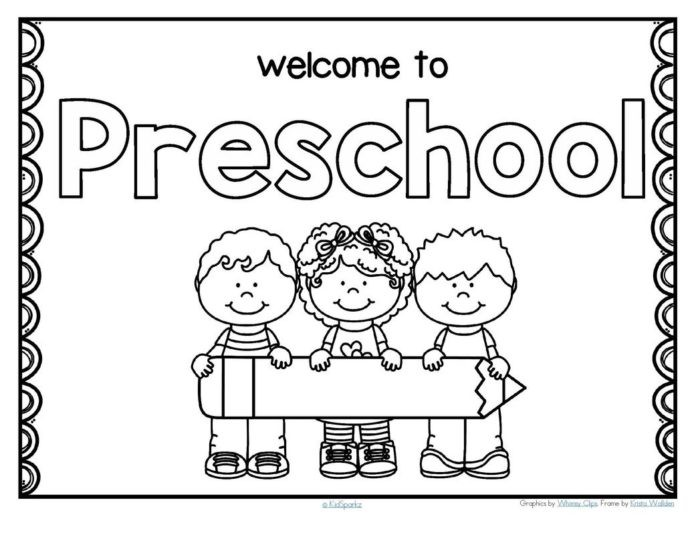Back To School Welcome Poster For Preschool Write Worksheets