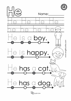 "Learning Sight Words: ""He"""
