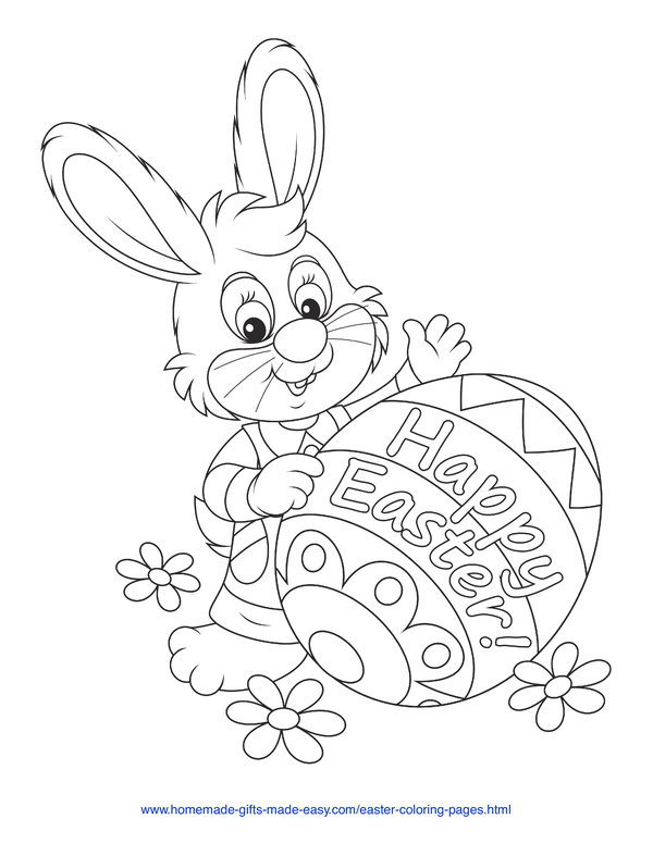 Easter Bunny Coloring Page Worksheets 99Worksheets