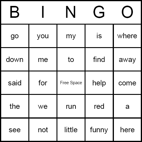 Best Images Of Sight Word Bingo Cards Printable