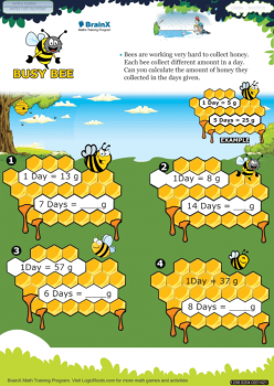 Number Puzzles For Busy Bees