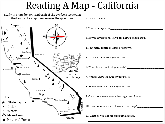 California Map Lesson