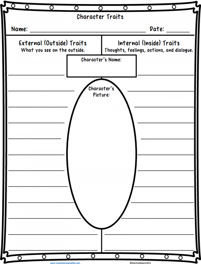 Character Traits Worksheetpdf With Images
