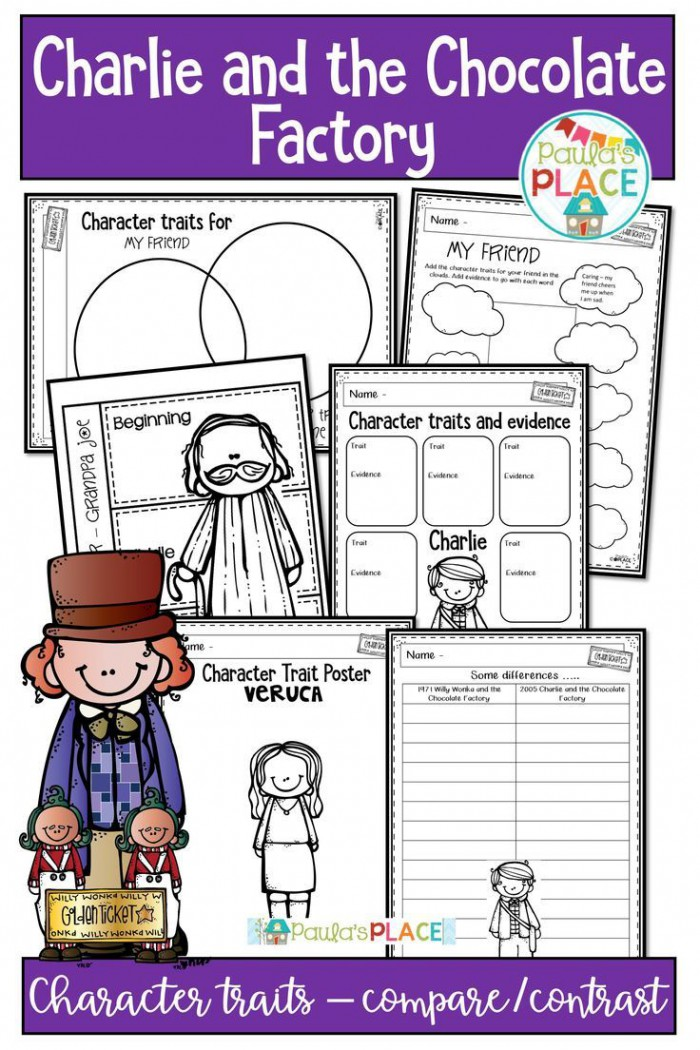 Charlie And The Chocolate Factory Book Study Printables And