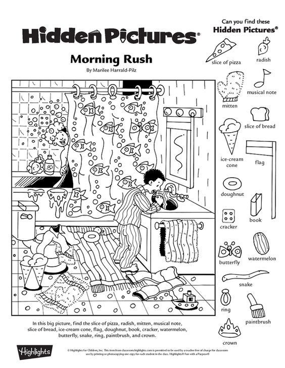 Collection Of Free Printable Hidden Picture Worksheets