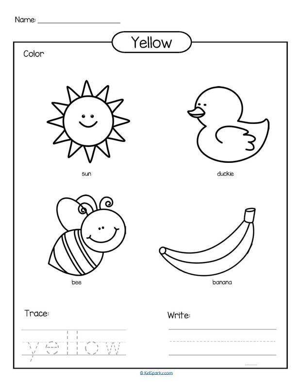 Color Yellow Printable