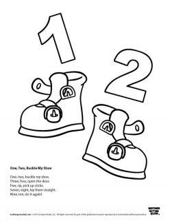 Nursery Rhyme Coloring: One, Two, Buckle My Shoe