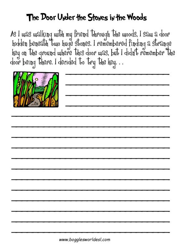 Creative Writing: Hidden Door Worksheets 99Worksheets