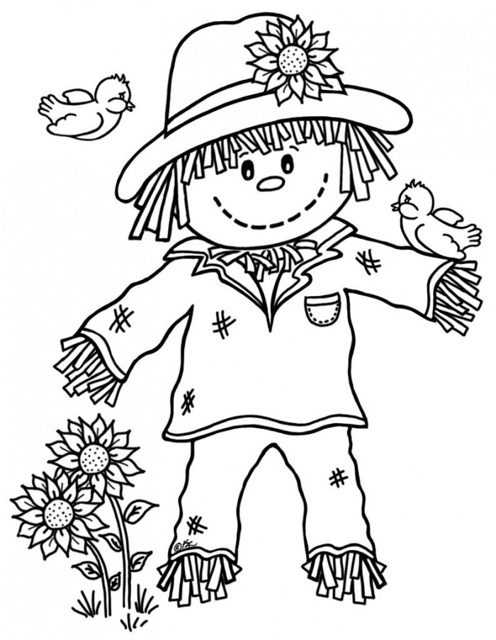 Cute Scarecrow Drawing