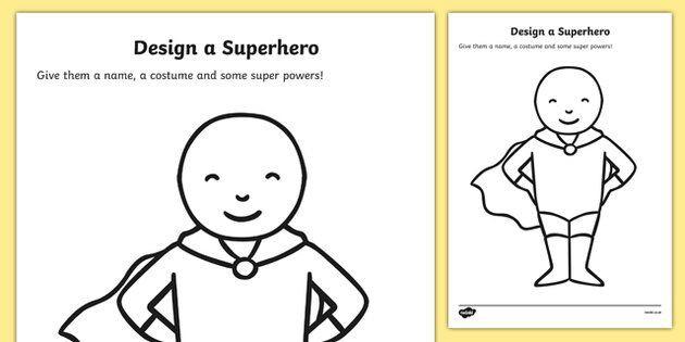Design A Superhero Worksheets