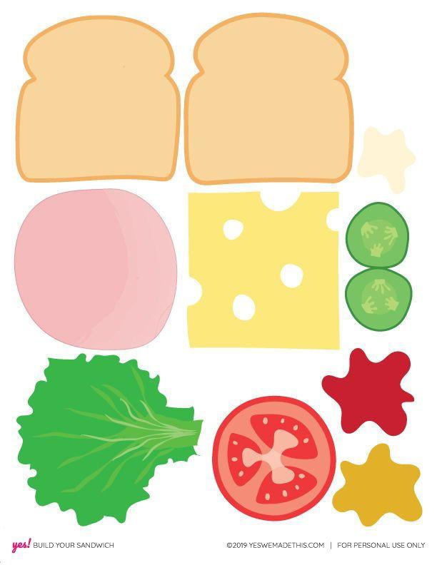 Diy Play Food Sandwich Printable