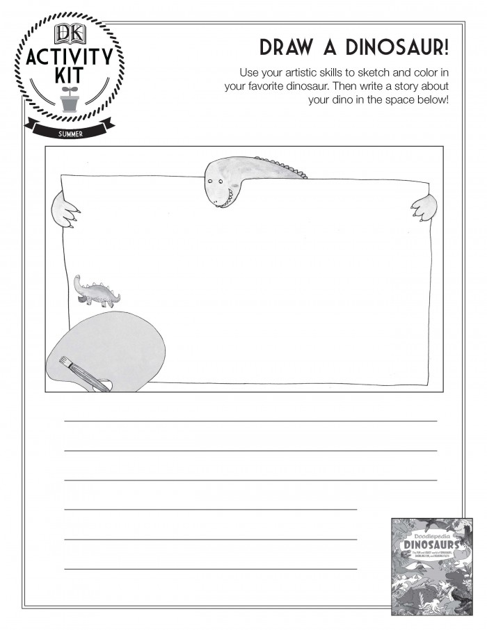 Draw A Dinosaur Activity Sheet