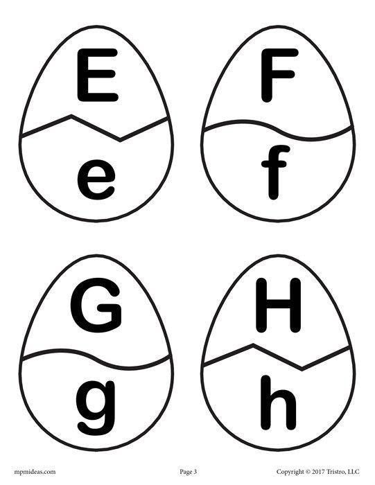 Easter Egg Alphabet Matching Game