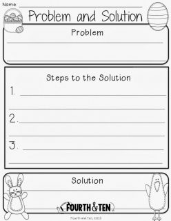 Graphic Organizer: Problem And Solution