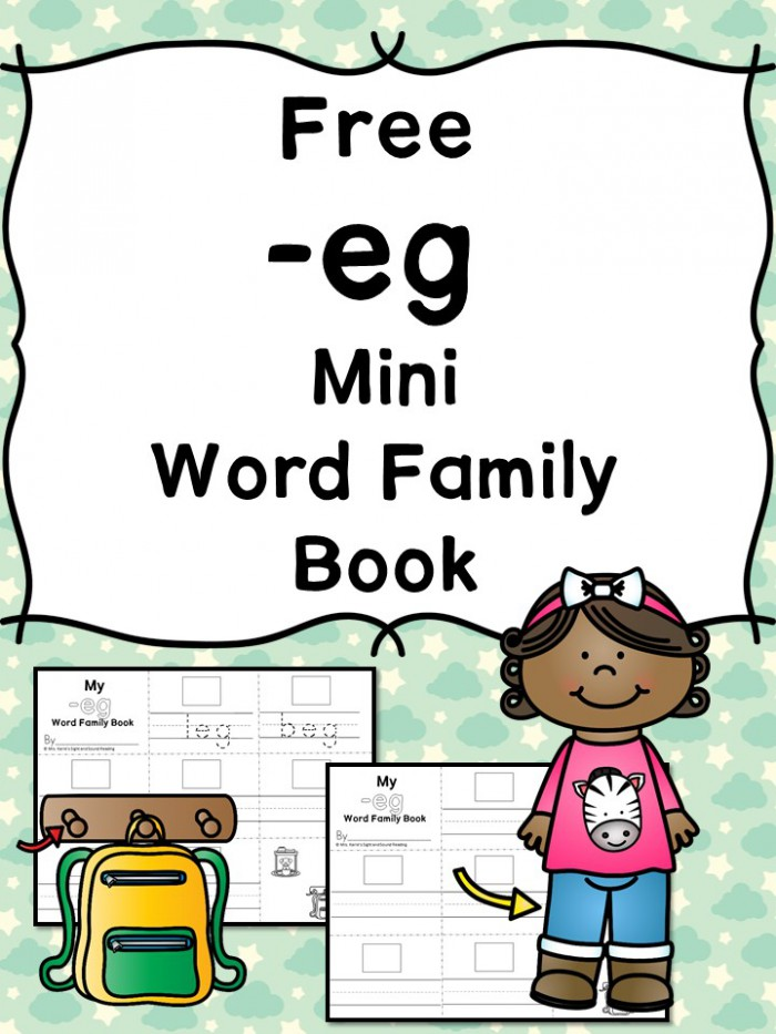 Eg Cvc Word Family Worksheets  Teach The Eg Word Family Ending