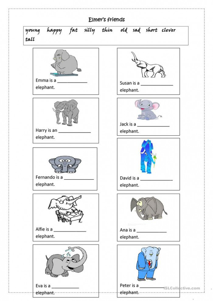 Elmers Friends Adjectives
