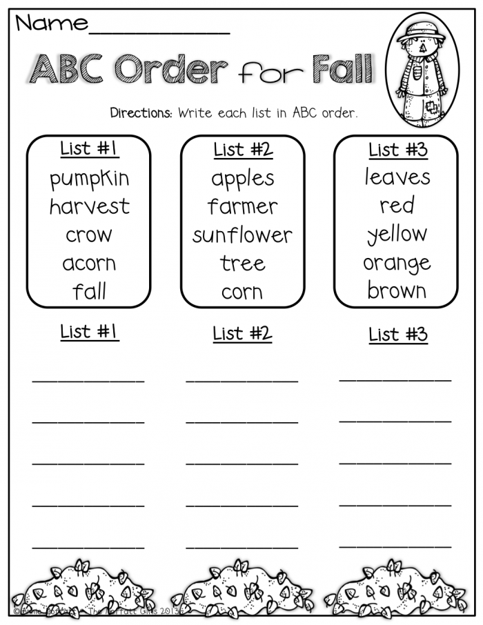 Fall Math And Literacy Packet St Grade With Images