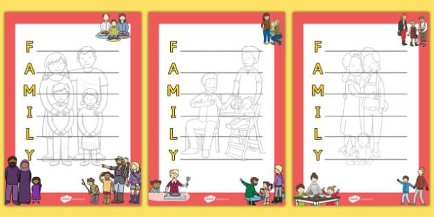 Family Acrostic Poem Teacher Made