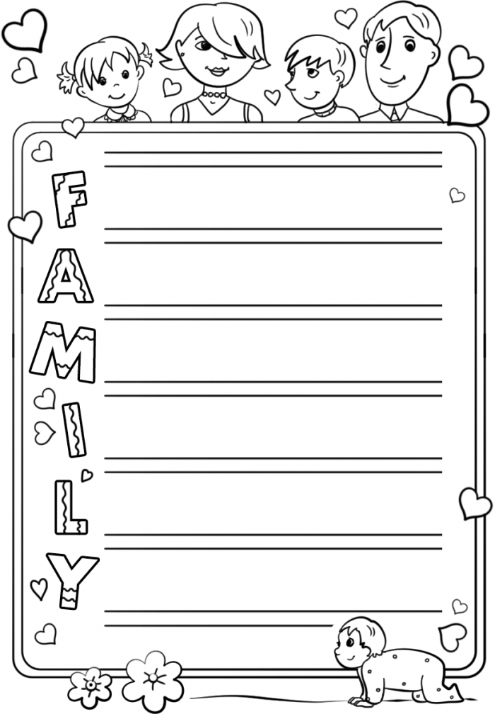 Family Acrostic Poem Template