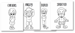 Emotions Coloring Page