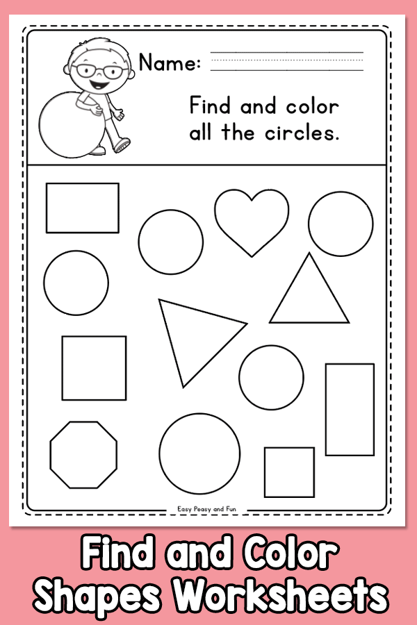 Find And Color Shapes Worksheets  Easy Peasy And Fun Membership