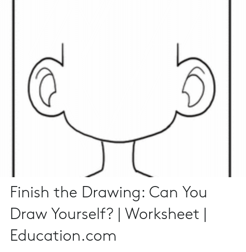 Finish The Drawing Can You Draw Yourself
