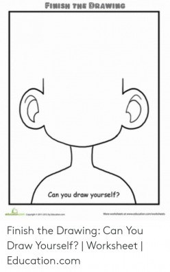 Finish The Drawing: Can You Draw Yourself?