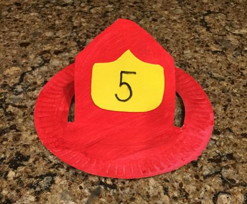 Firefighter Hat Craft