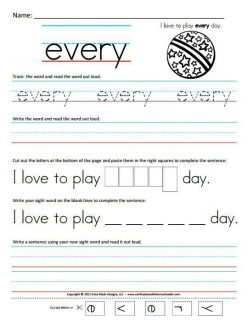 First Grade Sight Words: Very To Were