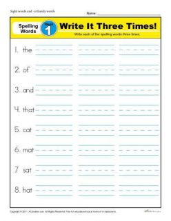 Spell It! For First Grade, #1