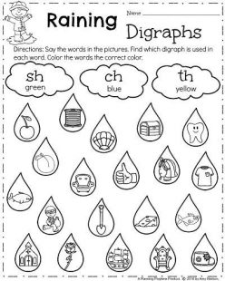 First Grade Sight Words: Or To Rain