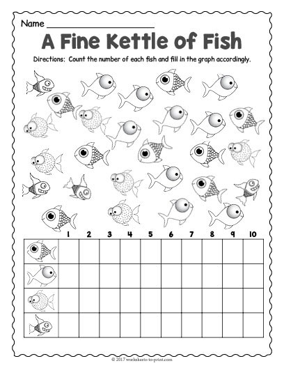 Fish Count And Graph Worksheet