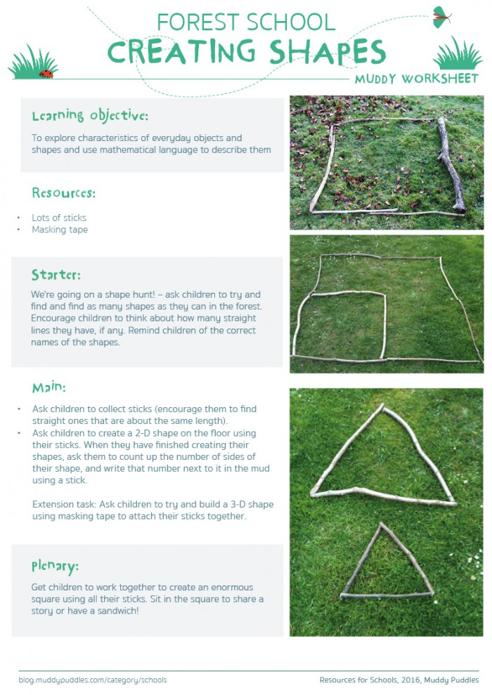 Forest School Maths Creating Shapes